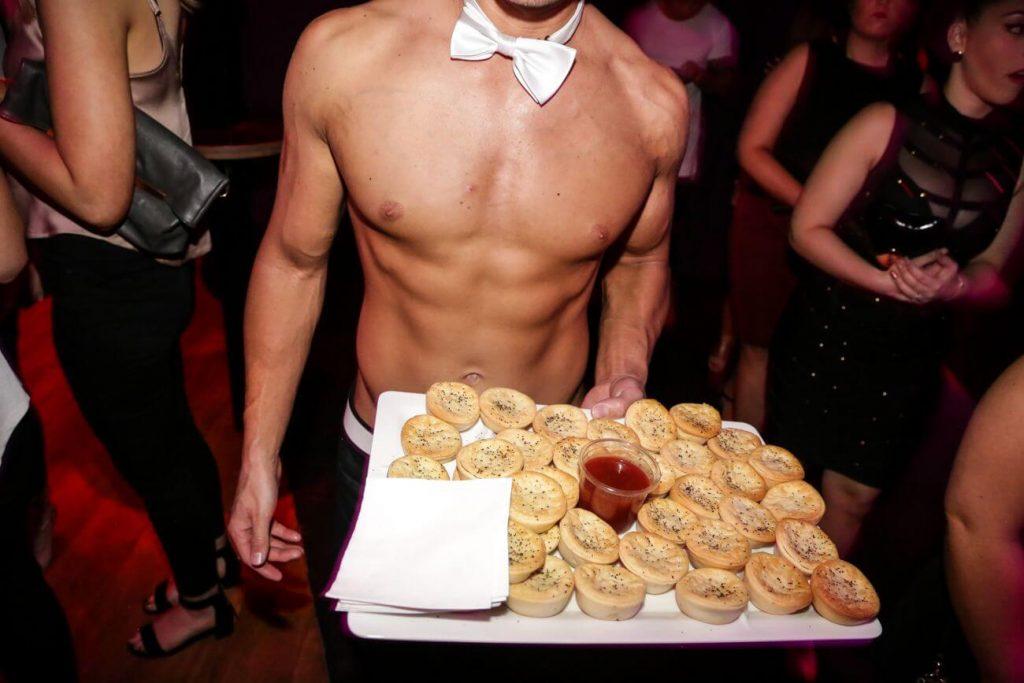 Perth waiter serving food